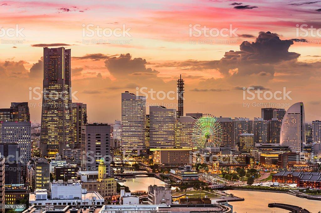 Yokohama Japan Skyline stock photo
