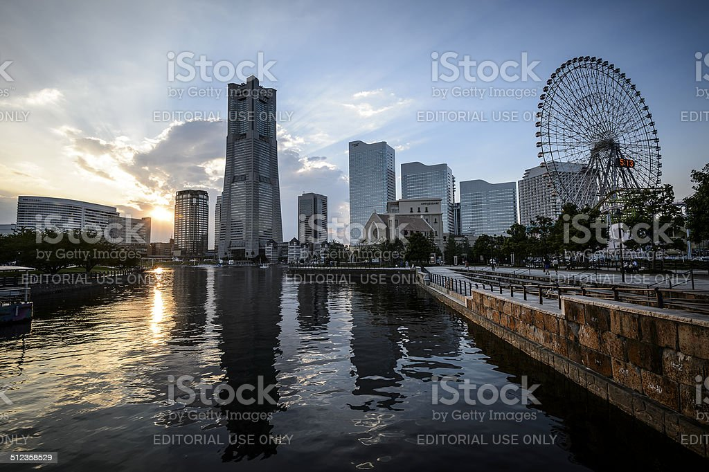 Yokohama Landmark Tower royalty-free stock photo