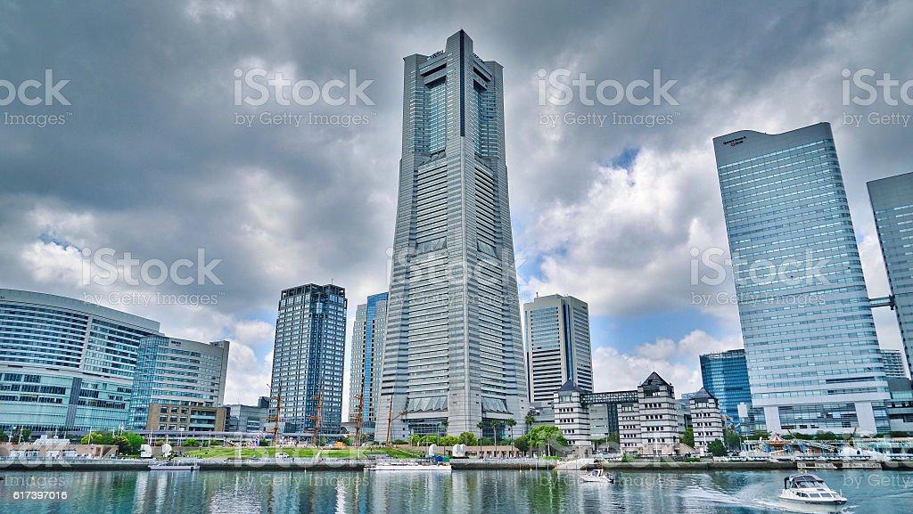 Yokohama Landmark Tower stock photo