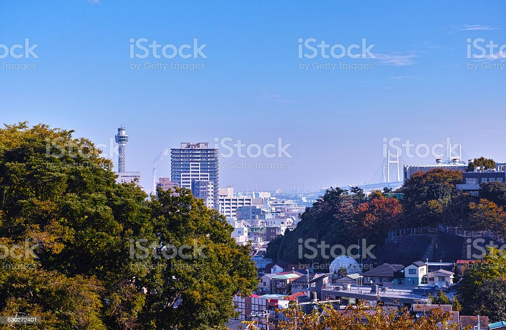 Yokohama landscape stock photo