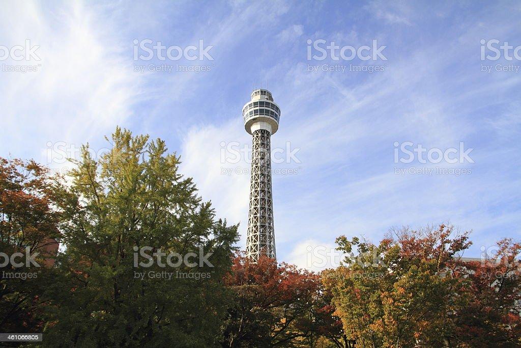 Yokohama Marine Tower royalty-free stock photo
