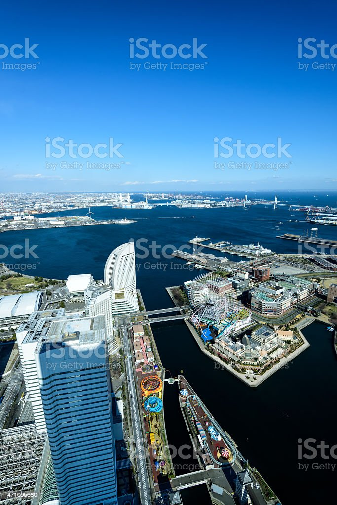 Yokohama Minato Mirai 21 stock photo
