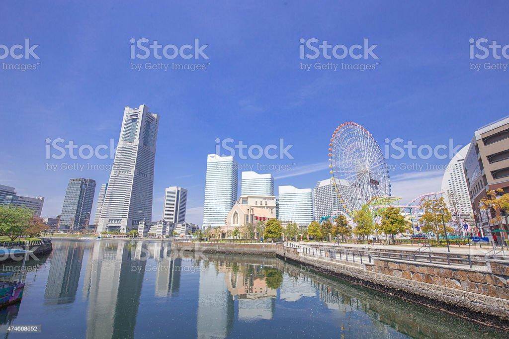 Yokohama Minato Mirai, Landmark Tower around stock photo