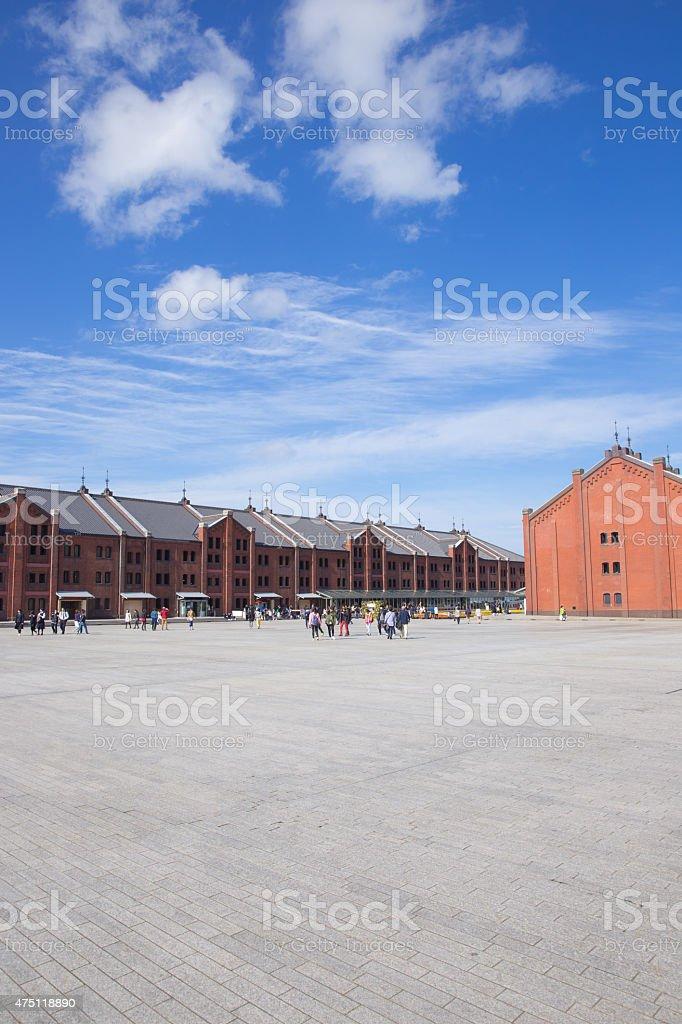 Yokohama Minato Mirai, red brick warehouse stock photo