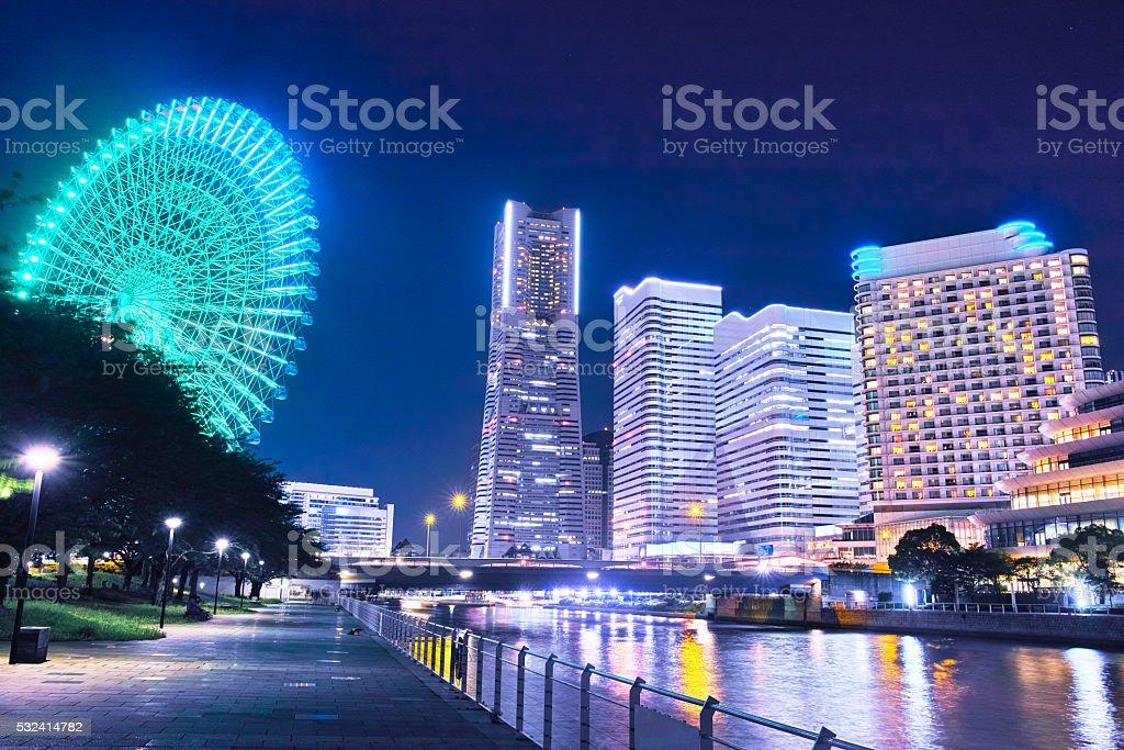 Yokohama night view stock photo
