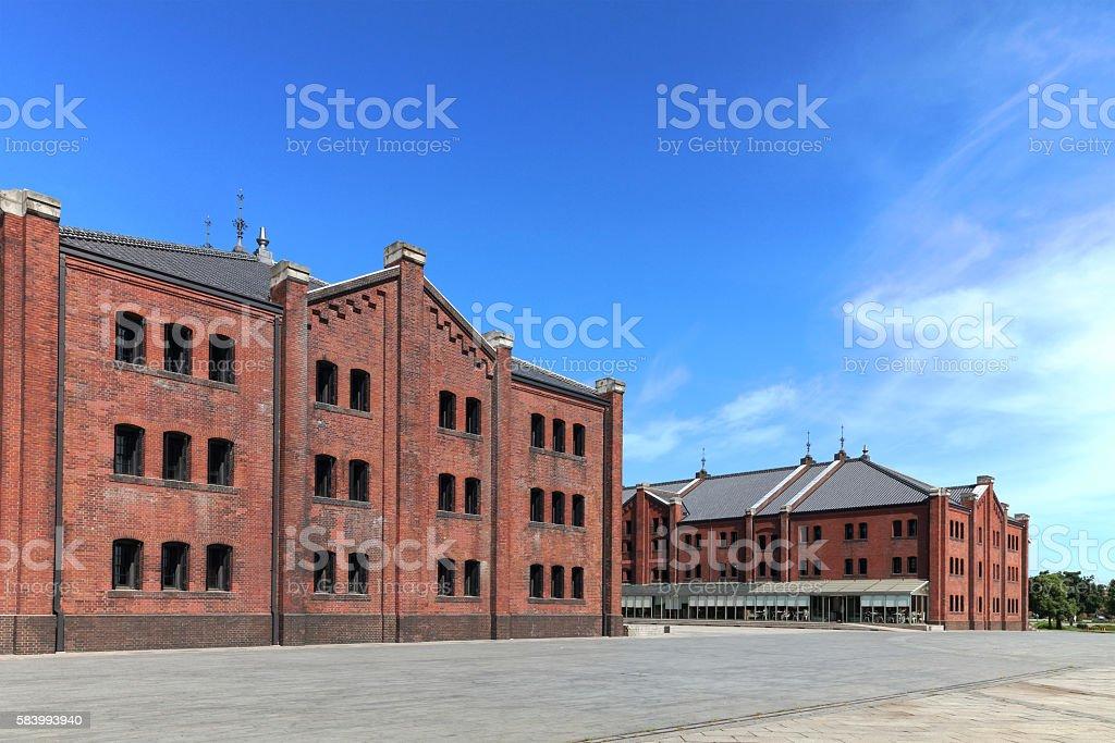 Yokohama Red Brick Warehouse stock photo