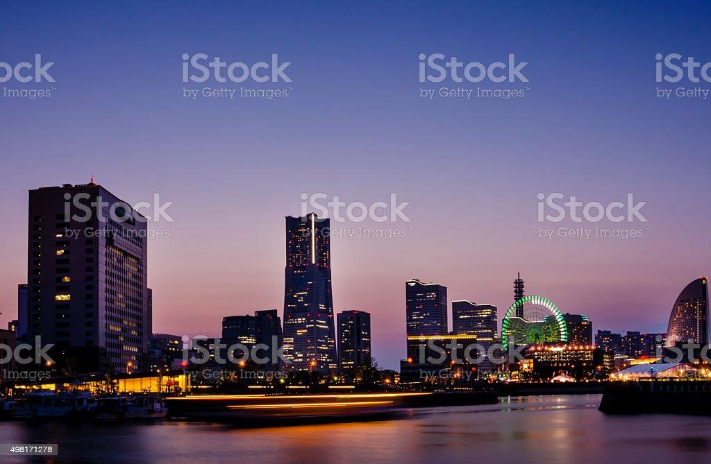 Yokohama skylines at Minato Mirai 21 royalty-free stock photo