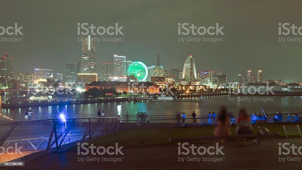 Yokohama Summer Night stock photo
