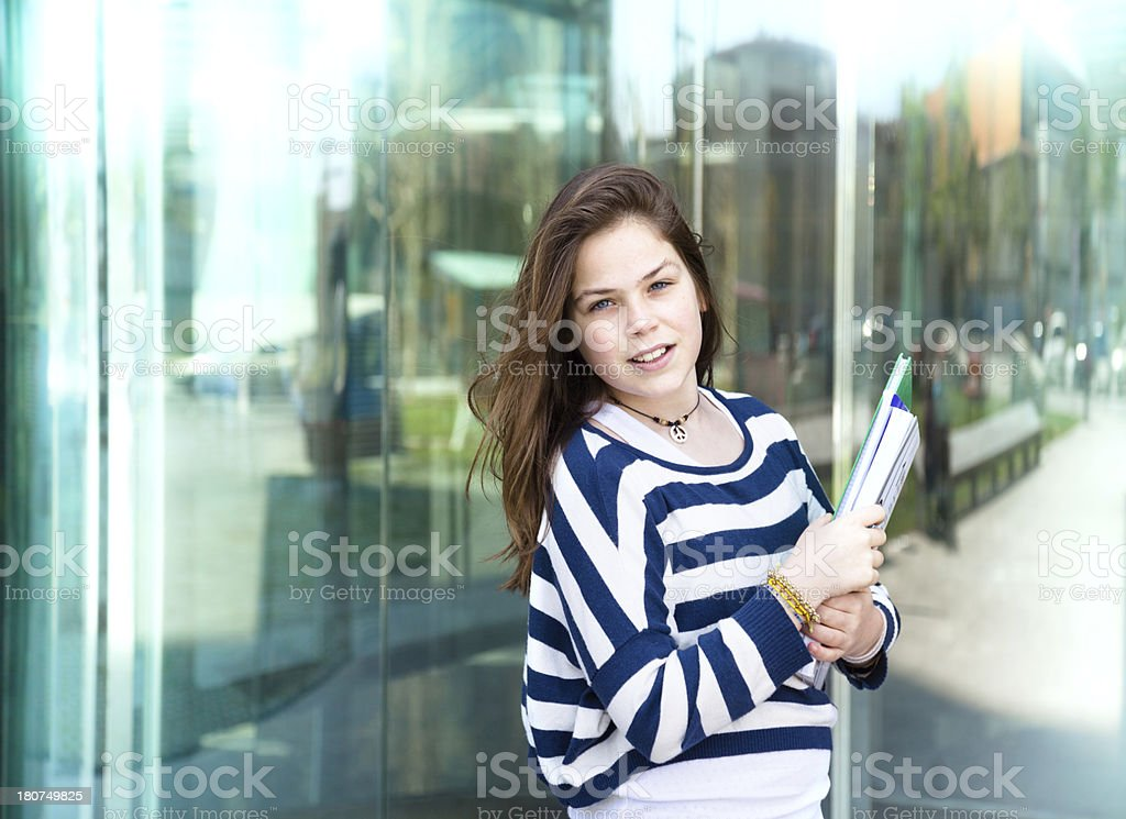 Yolung student girl. royalty-free stock photo