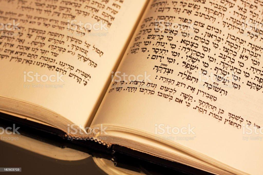 Yom Kippur Prayers royalty-free stock photo