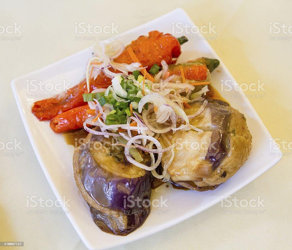 'Yong Tau Foo' Stuffed Meat stock photo