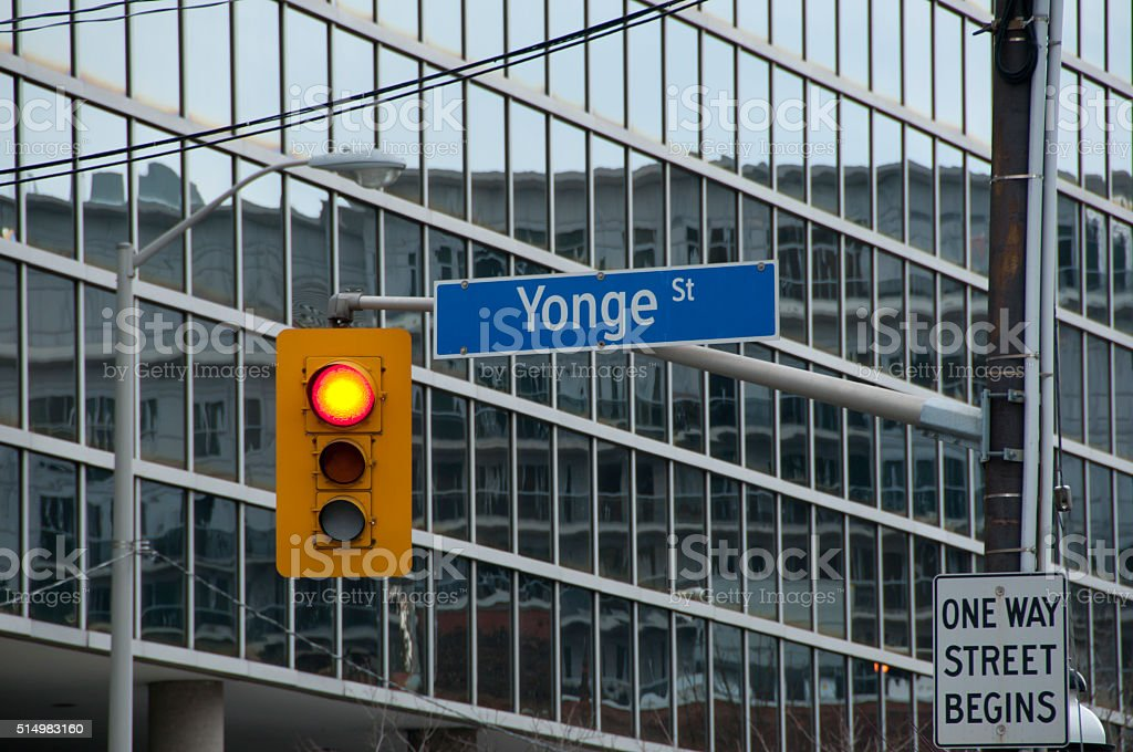 Yonge Street Sign - Toronto - Canada stock photo