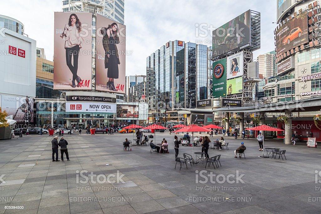 Yonge-Dundas Square in Toronto stock photo