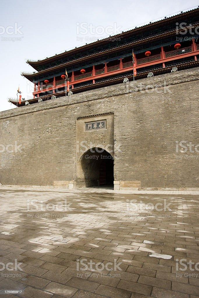 Yongning Gate at the Xian City Wall royalty-free stock photo