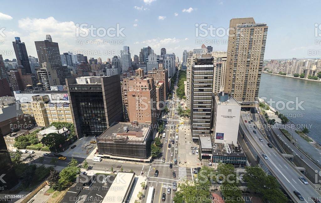 York Avenue royalty-free stock photo