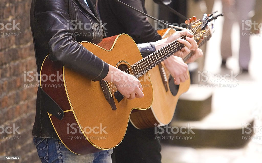York Buskers (guitar) royalty-free stock photo