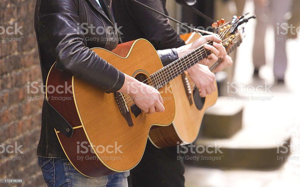 York Buskers (guitar) stock photo