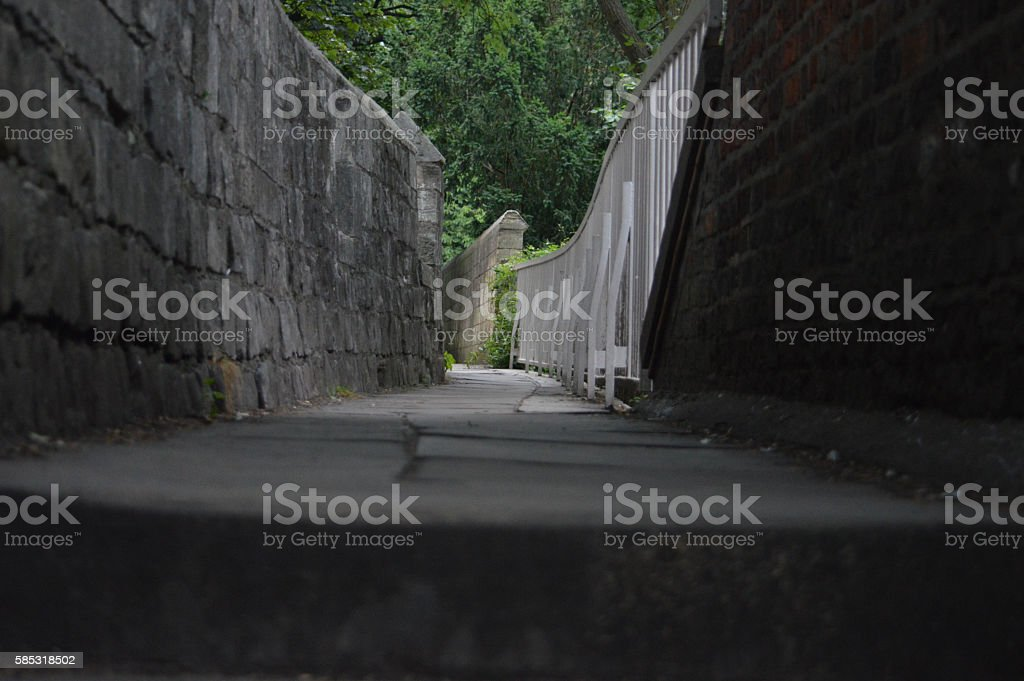 York city walls in the evening stock photo
