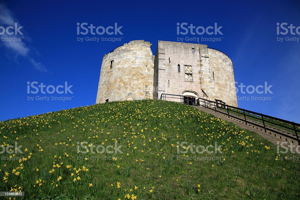 York Clifford's Tower stock photo