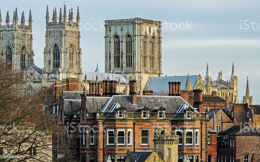 York, England (York Minster in the background). stock photo
