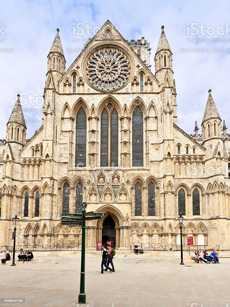 York Minster Cathedral, York, England, United Kingdom. stock photo