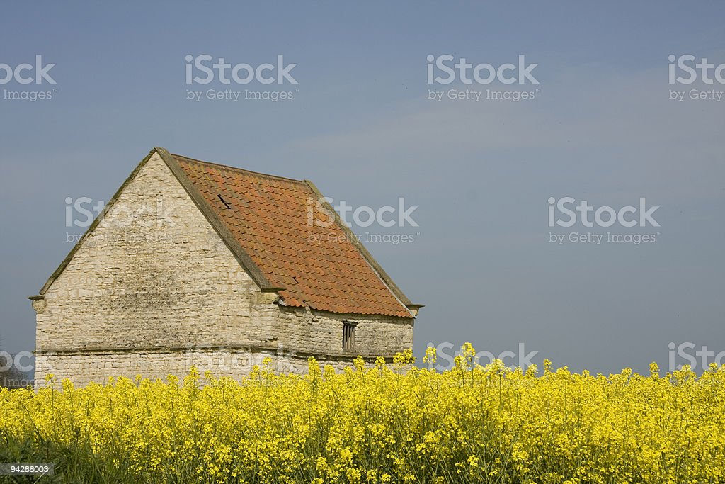 York Stone Barn royalty-free stock photo