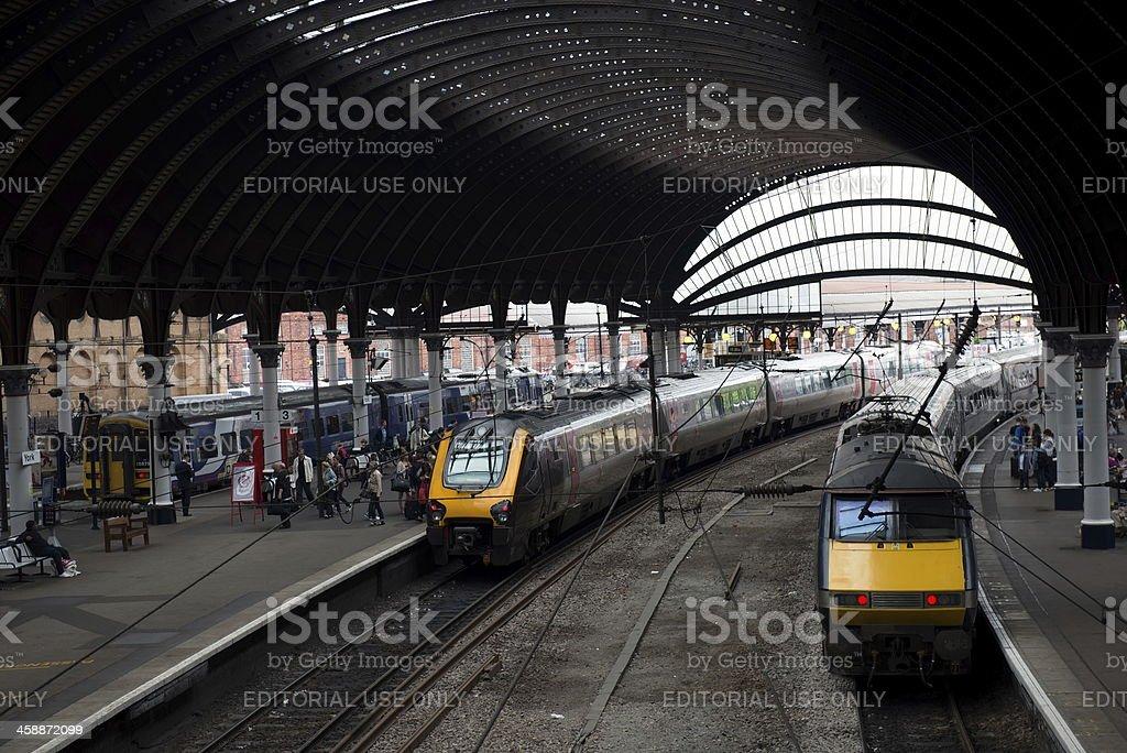York Train Station royalty-free stock photo