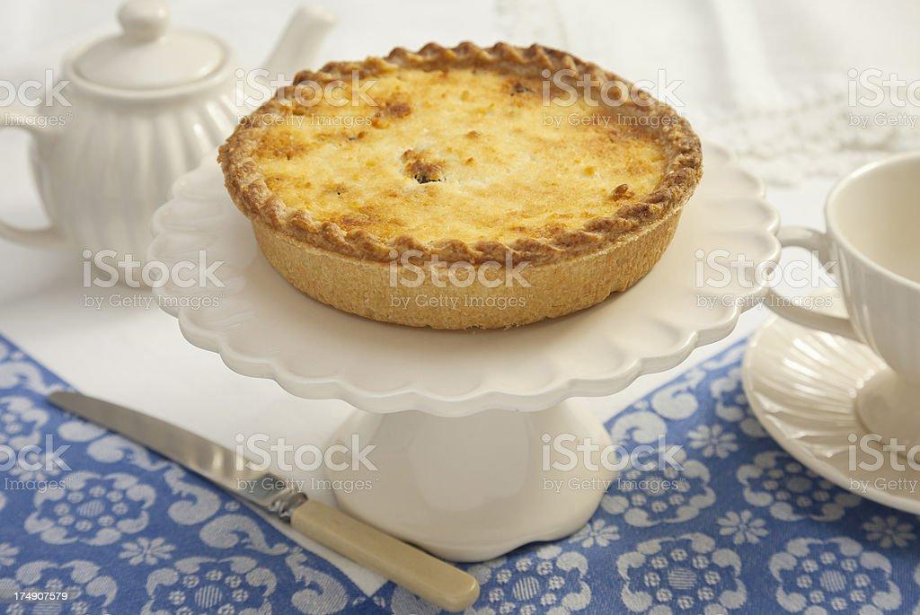 Yorkshire Curd Tart royalty-free stock photo