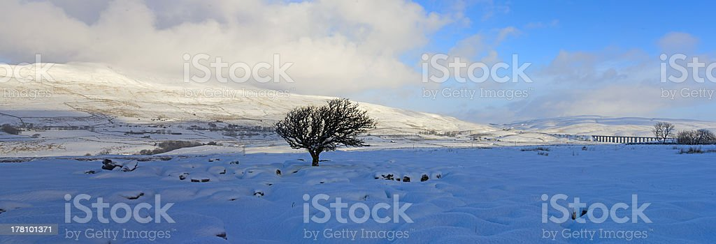 Yorkshire Dales National Park in Winter stock photo