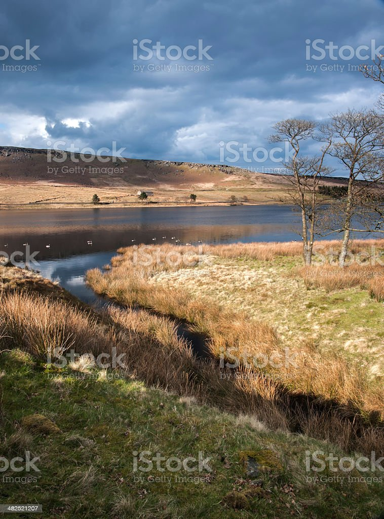 Yorkshire Dales reservoir royalty-free stock photo