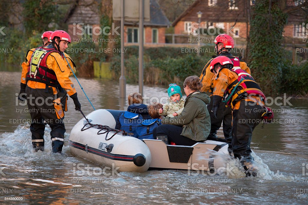 Yorkshire Flooding - England stock photo