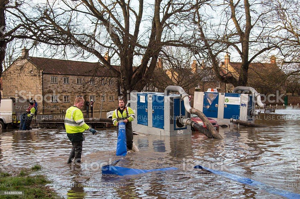 Yorkshire Flooding - England stock photo