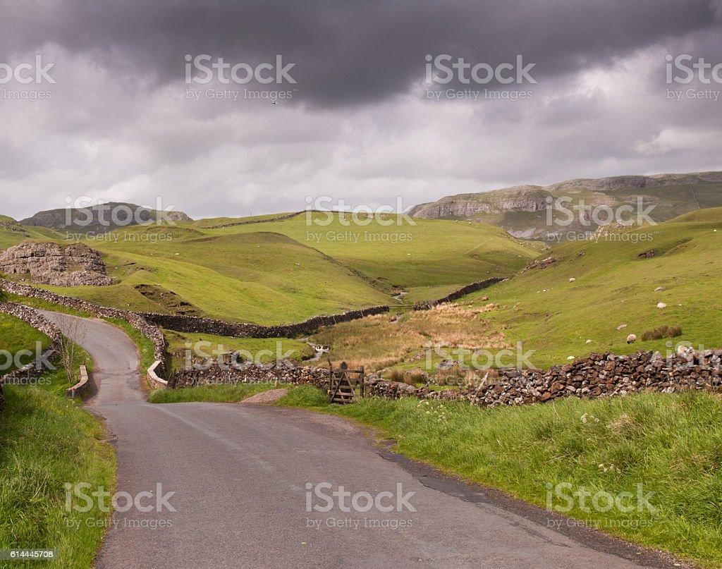Yorkshire lane stock photo