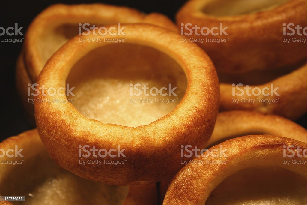 Yorkshire pudding in golden brown glory stock photo