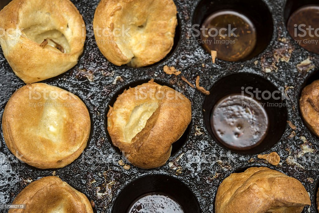 Yorkshire Puddings royalty-free stock photo