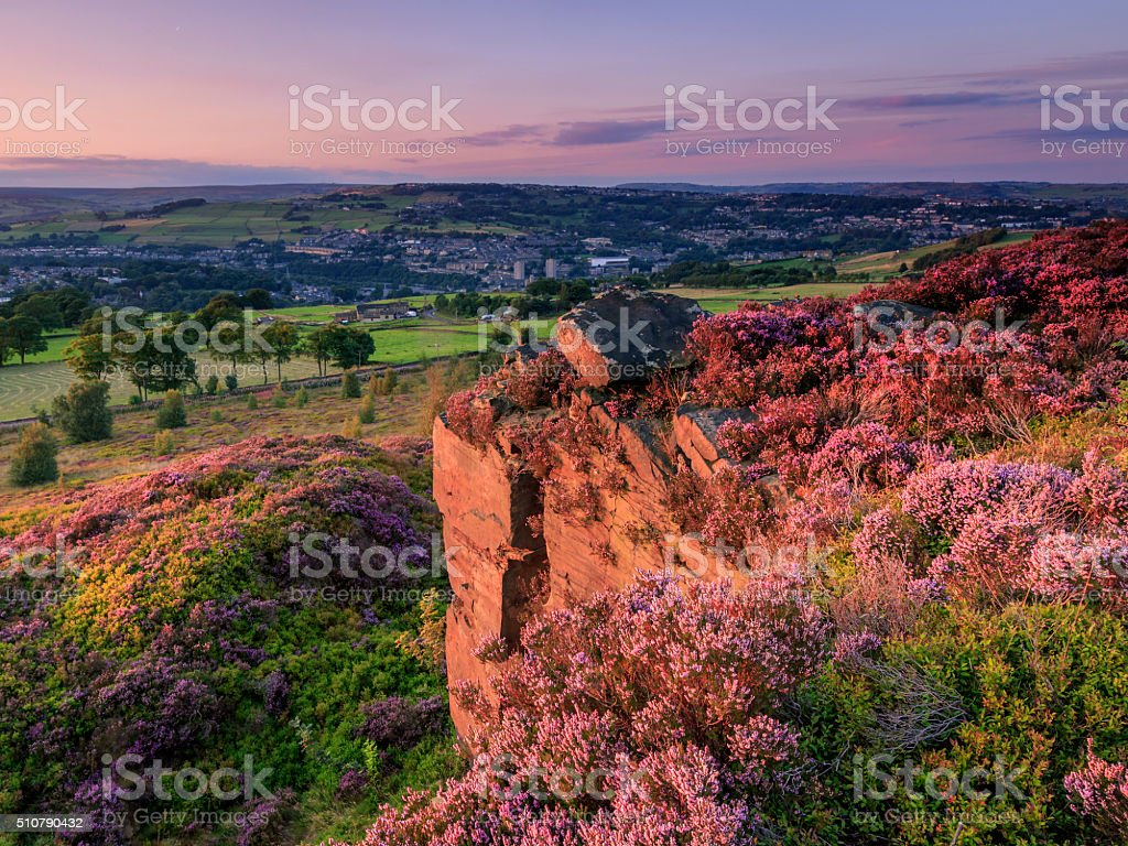 Yorkshire Sunset stock photo