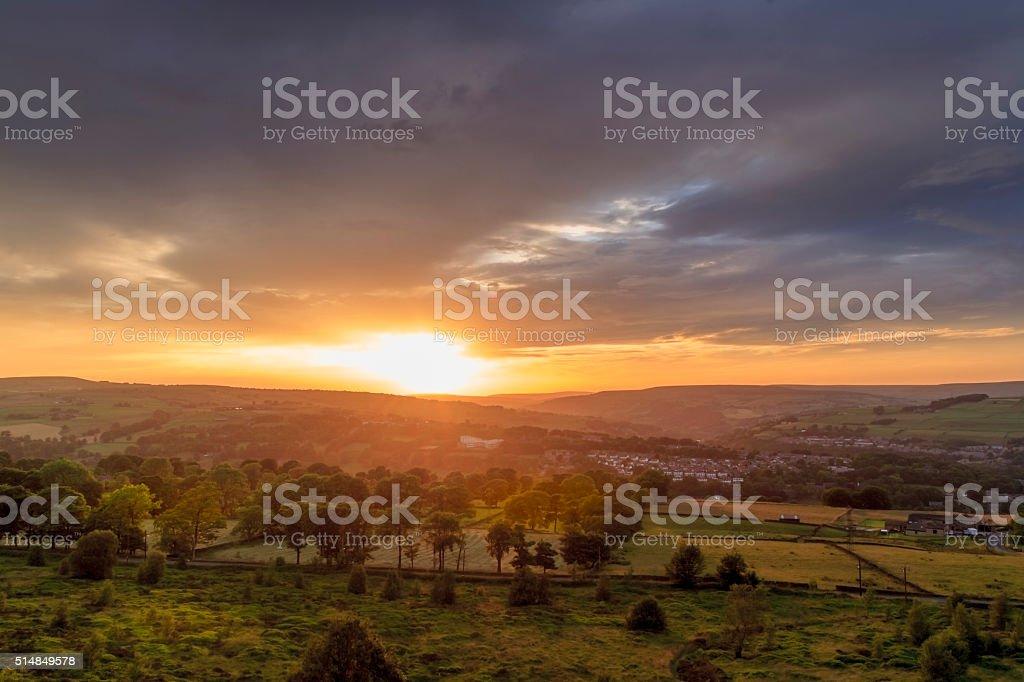 Yorkshire sunset stock photo