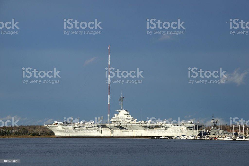 USS Yorktown at Charleston, South Carolina royalty-free stock photo