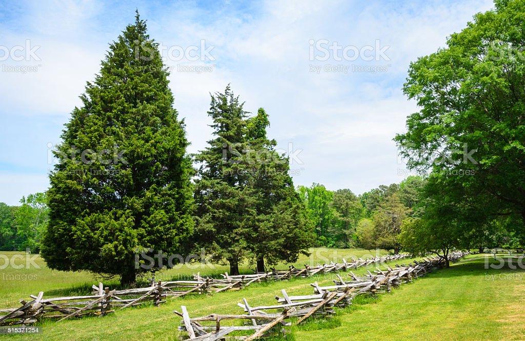 Yorktown Battlefield stock photo