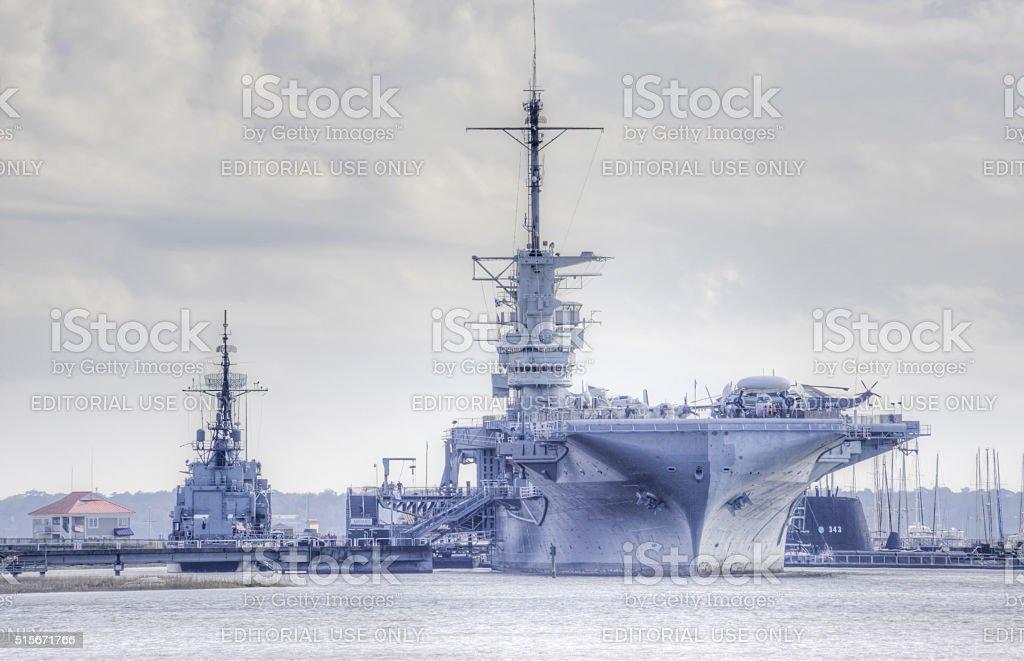 USS Yorktown stock photo