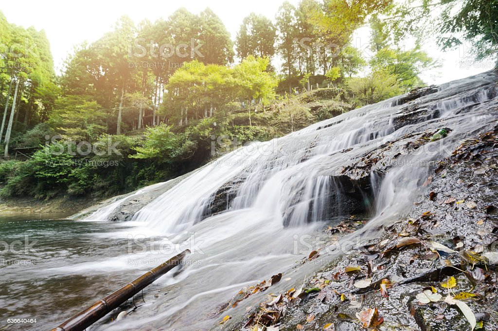 yoro keikoku valley waterfall in Chiba Prefecture, Japan stock photo