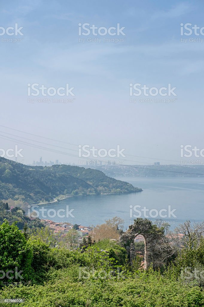 Yoros Castle yavuz sultan selim bridge stock photo