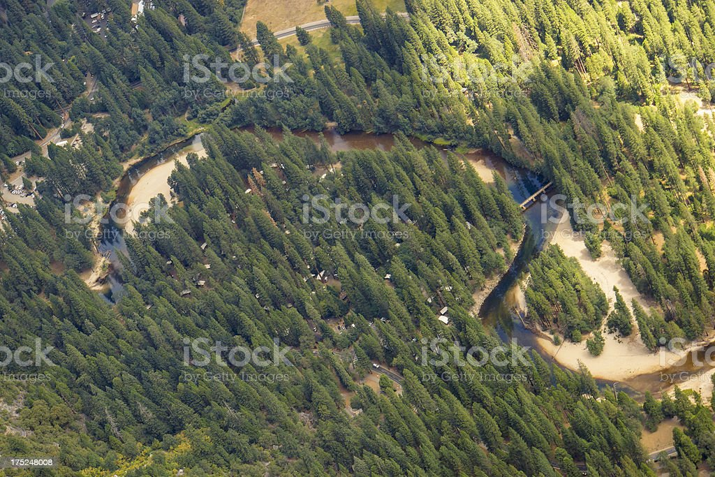 Yosemite camping forest royalty-free stock photo