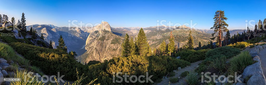 Yosemite - el capitan panorama stock photo