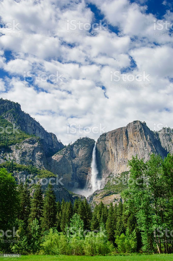 Yosemite Falls in Springtime stock photo