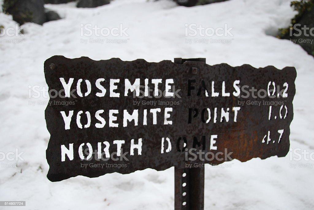 Placa de Yosemite cai foto royalty-free