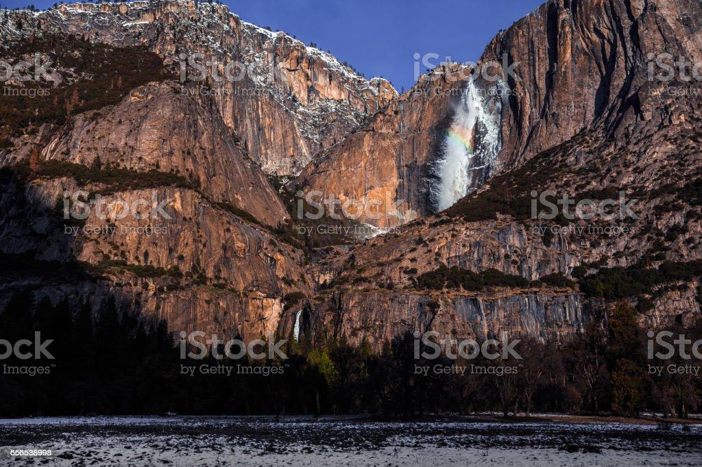 Yosemite Falls Winter Splendor stock photo