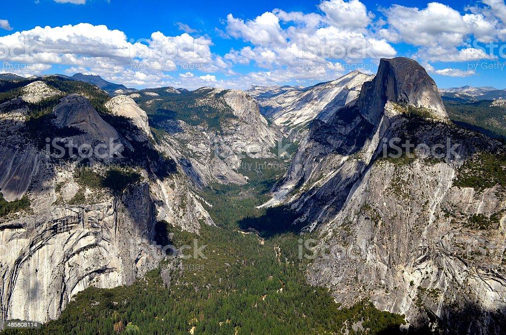 Yosemite Glacier point Half dome stock photo