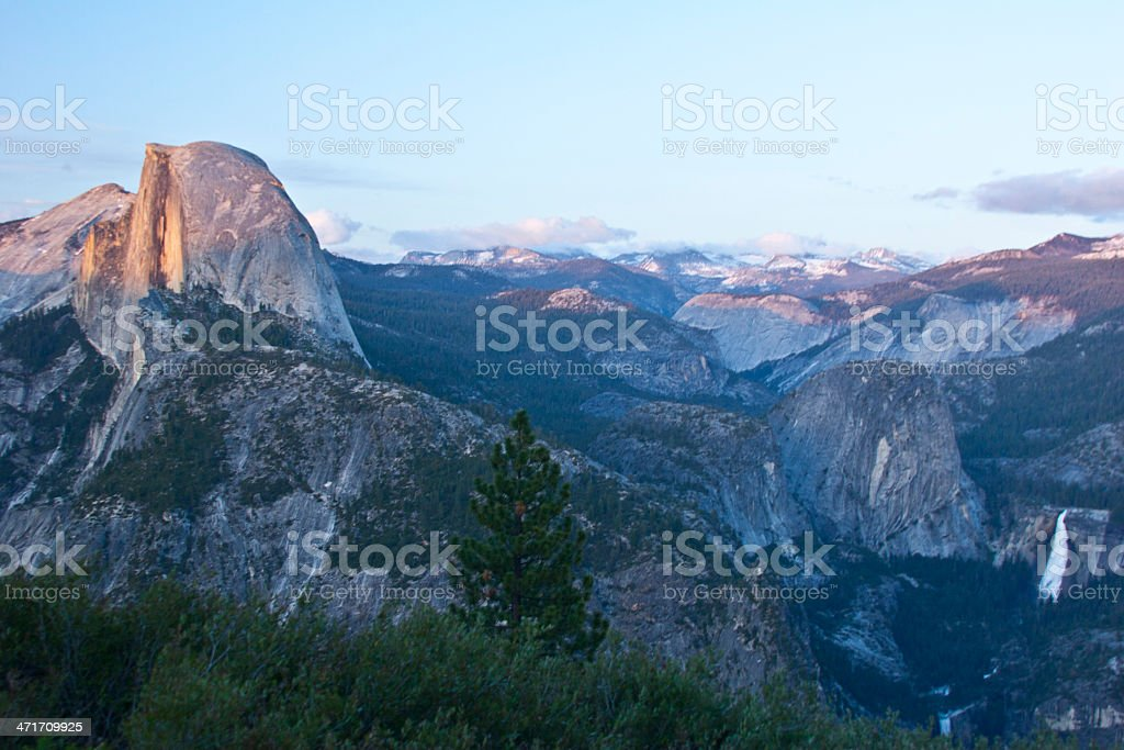 Yosemite Half Dome at Sunset royalty-free stock photo