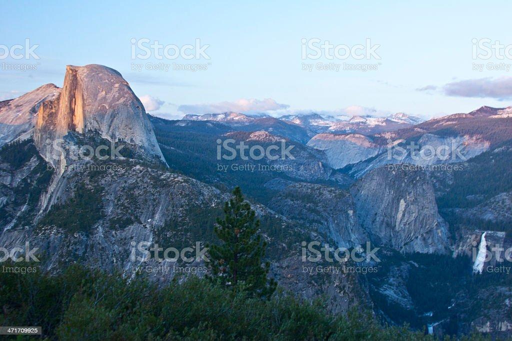 Yosemite Half Dome at Sunset stock photo